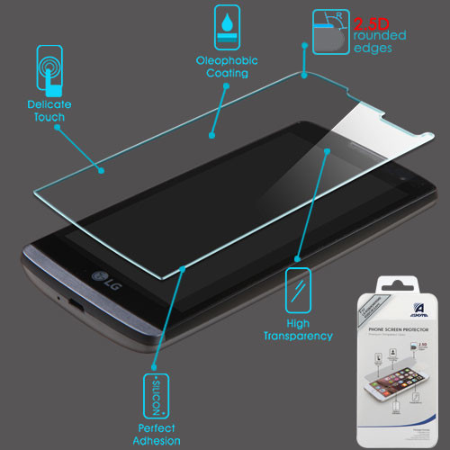 Asmyna Tempered Glass Screen Protector (2.5D) for LG C40 (Leon)/H320/RISIO / Tribute Duo - Clear