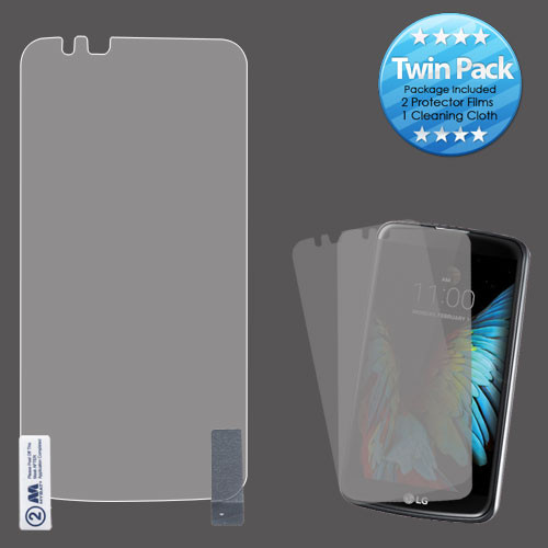 MyBat Screen Protector Twin Pack (Strong Adhesion & Ultra-thin) for LG K10 / L62VL (Premier LTE) - Clear
