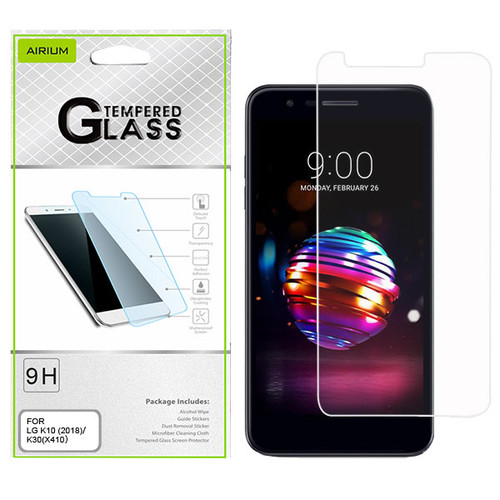 Airium Tempered Glass Screen Protector (2.5D) for LG K10 (2018)/K30 / Harmony 2 - Clear