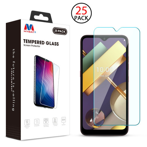 MyBat Tempered Glass Screen Protector (2.5D)(25-pack) for LG K22 - Clear