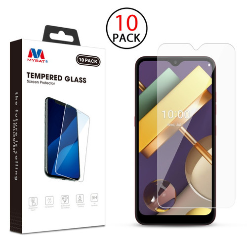 MyBat Tempered Glass Screen Protector (2.5D)(10-pack) for LG K22 - Clear