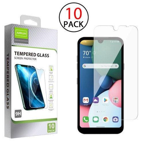 Airium Tempered Glass Screen Protector (2.5D)(10-pack) for LG K31 (Aristo 5)/Fortune 3/Tribute Monarch / Phoenix 5 - Clear
