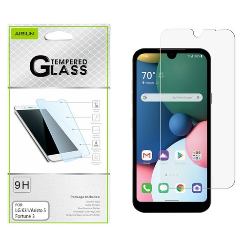 Airium Tempered Glass Screen Protector (2.5D) for LG K31 (Aristo 5)/Fortune 3/Tribute Monarch / Phoenix 5 - Clear