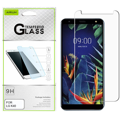 Airium Tempered Glass Screen Protector (2.5D) for LG K40 / Harmony 3 - Clear