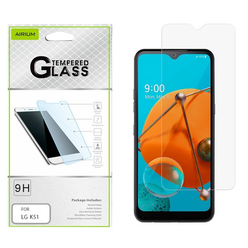 Airium Tempered Glass Screen Protector (2.5D) for LG K51 / Reflect - Clear