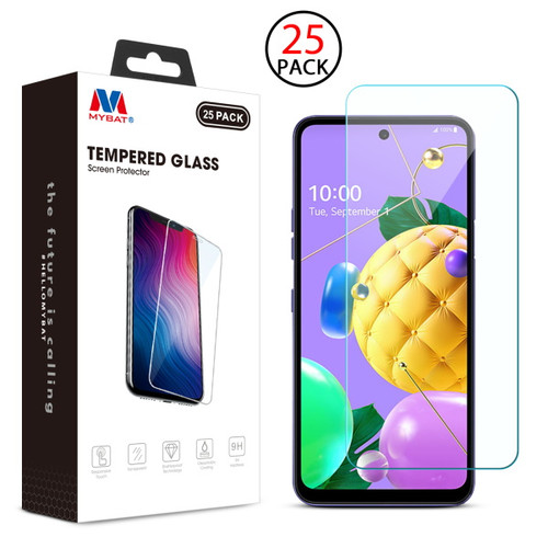 MyBat Tempered Glass Screen Protector (2.5D)(25-pack) for LG K53 / K52 - Clear