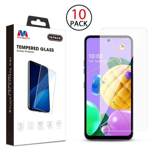 MyBat Tempered Glass Screen Protector (2.5D)(10-pack) for LG K53 / K52 - Clear
