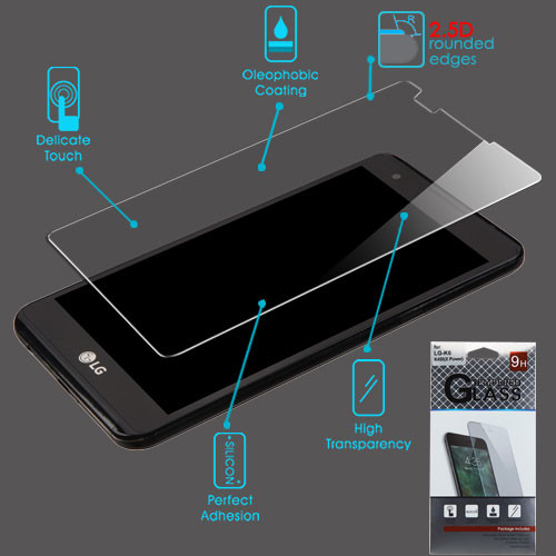 Airium Tempered Glass Screen Protector (2.5D) for LG K6 / K450 (X Power) - Clear