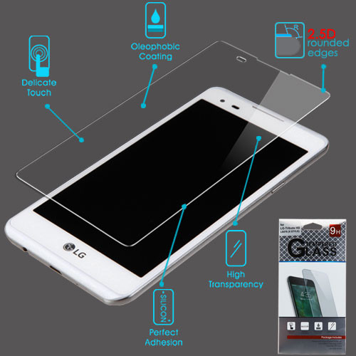Airium Tempered Glass Screen Protector (2.5D) for LG LS676 (X STYLE)/L53B/L56VL / Tribute HD - Clear