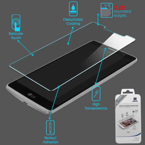 Asmyna Tempered Glass Screen Protector (2.5D) for LG LS770 (G Stylo) / H740 (G Vista 2) - Clear