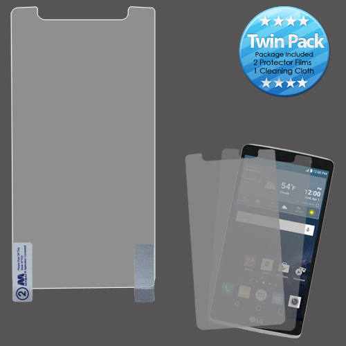 MyBat Screen Protector Twin Pack for LG LS770 (G Stylo) / H740 (G Vista 2) - Clear