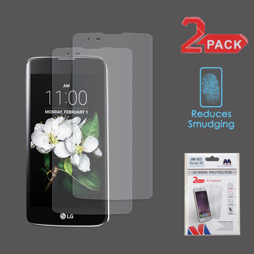 MyBat Anti-grease LCD Screen Protector (2-pack) (Strong Adhesion & Ultra-thin) for LG MS330 (K7)/L52VL (Treasure LTE) / LS675 (Tribute 5) - Clear