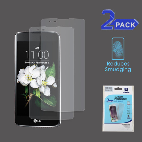Asmyna Anti-grease LCD Screen Protector (2-pack) (Strong Adhesion & Ultra-thin) for LG MS330 (K7)/L52VL (Treasure LTE) / LS675 (Tribute 5) - Clear