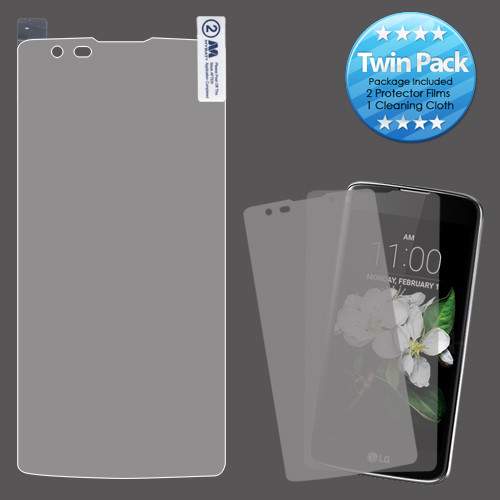 MyBat Screen Protector Twin Pack (Strong Adhesion & Ultra-thin) for LG MS330 (K7)/L52VL (Treasure LTE) / LS675 (Tribute 5) - Clear