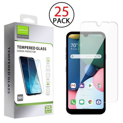 Airium Tempered Glass Screen Protector (2.5D)(25-pack) for LG Phoenix 5/Tribute Monarch / K31 (Aristo 5)/Fortune 3 - Clear