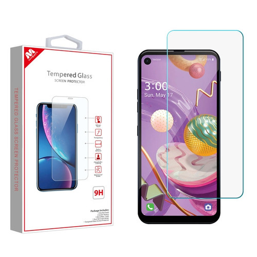 MyBat Tempered Glass Screen Protector (2.5D) for LG Q70 - Clear