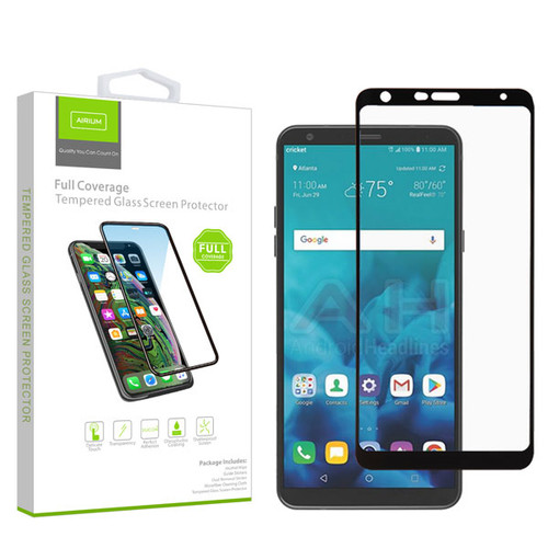 Airium Full Coverage Tempered Glass Screen Protector for LG Stylo 4 / Stylo 4 Plus - Black