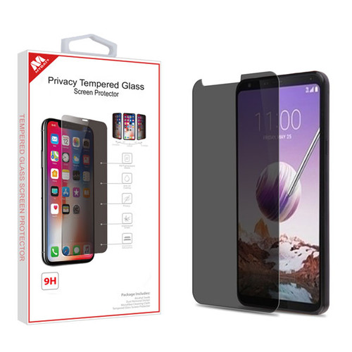 MyBat Privacy Tempered Glass Screen Protector (2.5D) for LG Stylo 5 - Transparent Smoke