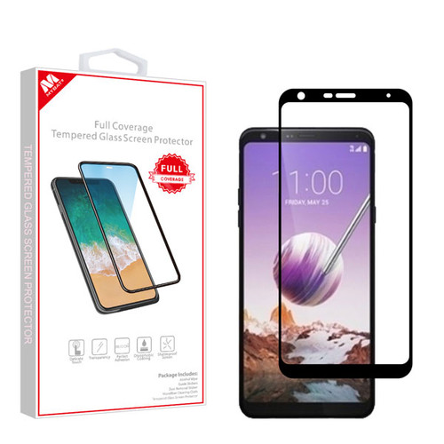 MyBat Full Coverage Tempered Glass Screen Protector for LG Stylo 5 - Black