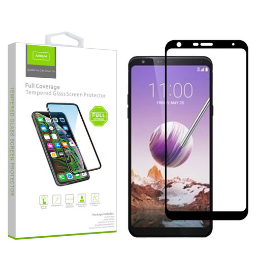 Airium Full Coverage Tempered Glass Screen Protector for LG Stylo 5 - Black