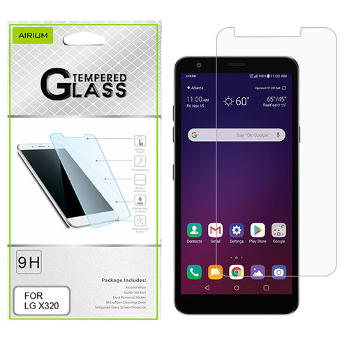 Airium Tempered Glass Screen Protector (2.5D) for LG X320 (Escape Plus)/Tribute Royal / Prime 2 - Clear