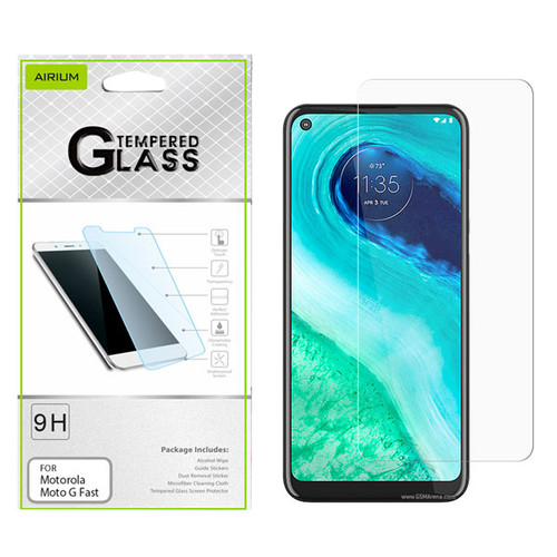 Airium Tempered Glass Screen Protector (2.5D) for Motorola Moto G Fast - Clear