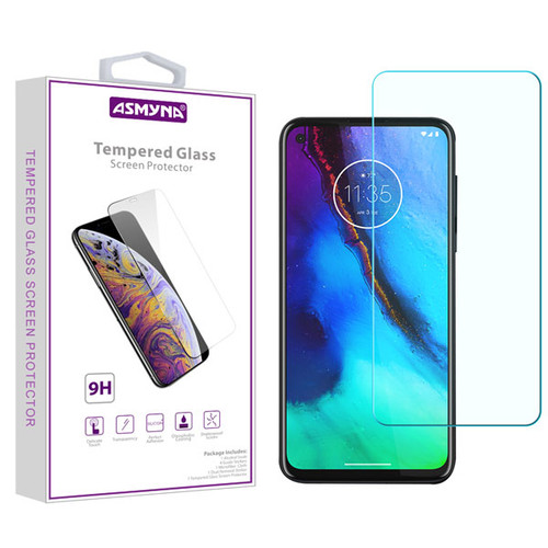 Asmyna Tempered Glass Screen Protector (2.5D) for Motorola Moto G Stylus / Moto G Power - Clear