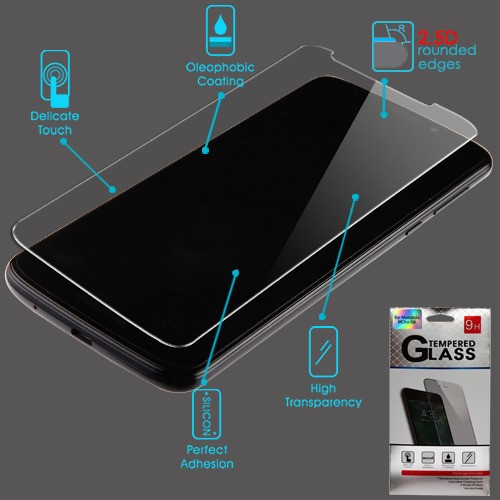 Airium Tempered Glass Screen Protector (2.5D) for Motorola Moto G6 Play/Moto E5 / Moto G6 Forge - Clear
