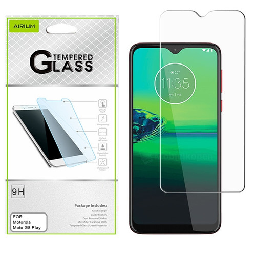 Airium Tempered Glass Screen Protector (2.5D) for Motorola Moto G8 Play - Clear