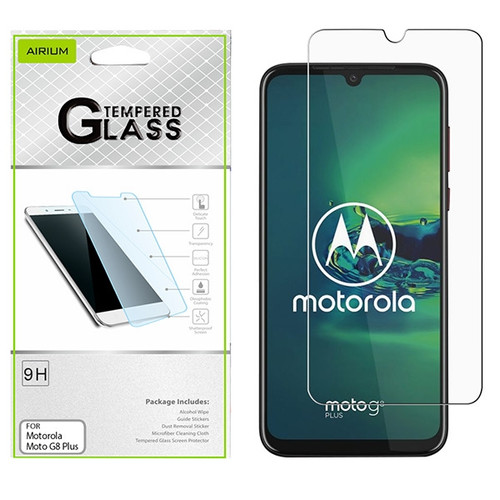 Airium Tempered Glass Screen Protector (2.5D) for Motorola Moto G8 Plus - Clear