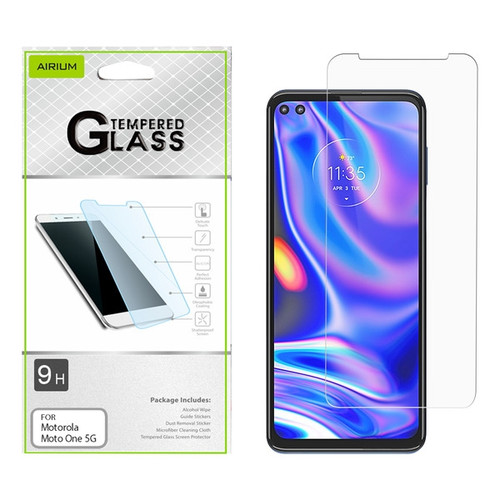 Airium Tempered Glass Screen Protector (2.5D) for Motorola Moto One 5G - Clear