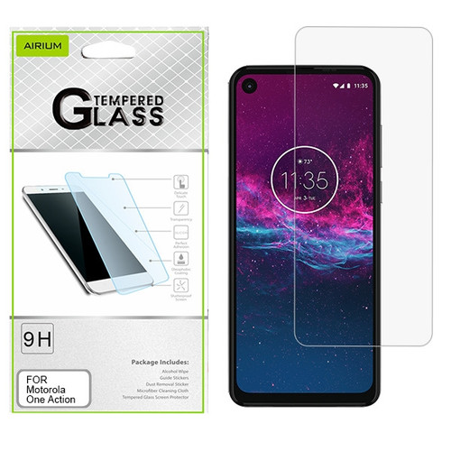 Airium Tempered Glass Screen Protector (2.5D) for Motorola One Action - Clear