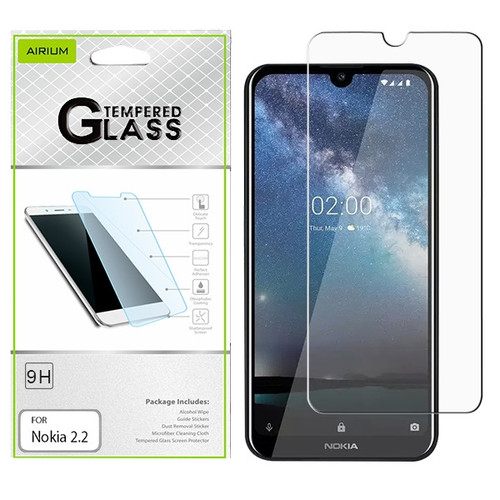 Airium Tempered Glass Screen Protector (2.5D) for Nokia 2.2 - Clear