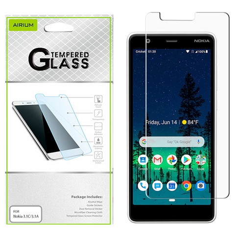 Airium Tempered Glass Screen Protector (2.5D) for Nokia 3.1 C / 3.1 A - Clear