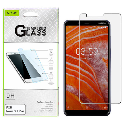 Airium Tempered Glass Screen Protector (2.5D) for Nokia 3.1 PLUS - Clear