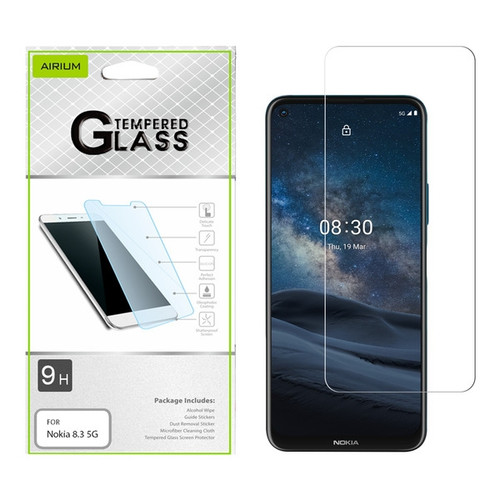 Airium Tempered Glass Screen Protector (2.5D) for NOKIA 8.3 5G - Clear for Nokia 8.3 5G - Clear
