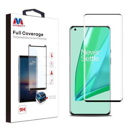 MyBat Full Coverage Tempered Glass Screen Protector for Oneplus 9 Pro - Black