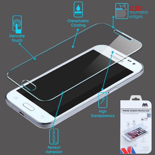 MyBat Tempered Glass Screen Protector (2.5D) for Samsung G360 (Prevail LTE)/Galaxy Core Prime / Galaxy Prevail Lte - Clear