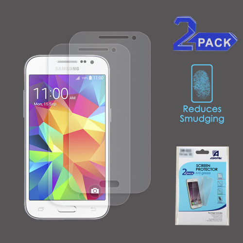 Asmyna Anti-grease LCD Screen Protector (2-pack) for Samsung G360 (Prevail LTE)/Galaxy Core Prime / Galaxy Prevail Lte - Clear