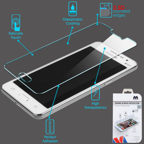 MyBat Tempered Glass Screen Protector (2.5D) for Samsung G550 (On5) - Clear