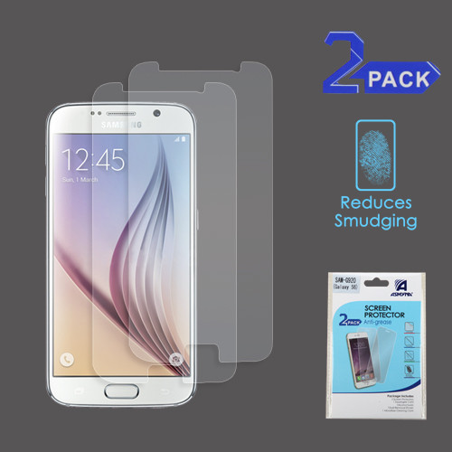Asmyna Anti-grease LCD Screen Protector (2-pack) for Samsung G920 (Galaxy S6) - Clear