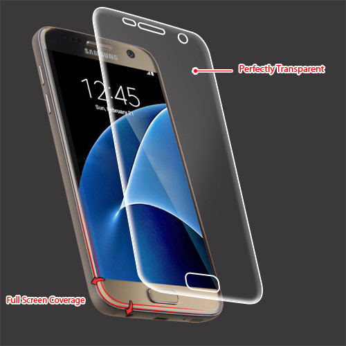 MyBat Screen Protector (with Full Screen Coverage) for Samsung G930 (Galaxy S7) - Clear