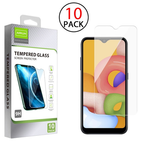 Airium Tempered Glass Screen Protector (2.5D)(10-pack) for Samsung Galaxy A01 - Clear