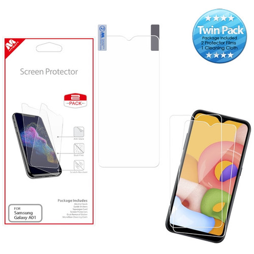 MyBat Screen Protector Twin Pack for Samsung Galaxy A01 - Clear
