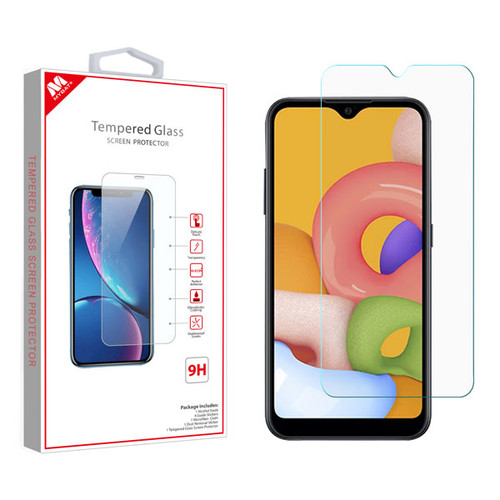 MyBat Tempered Glass Screen Protector (2.5D) for Samsung Galaxy A01 - Clear