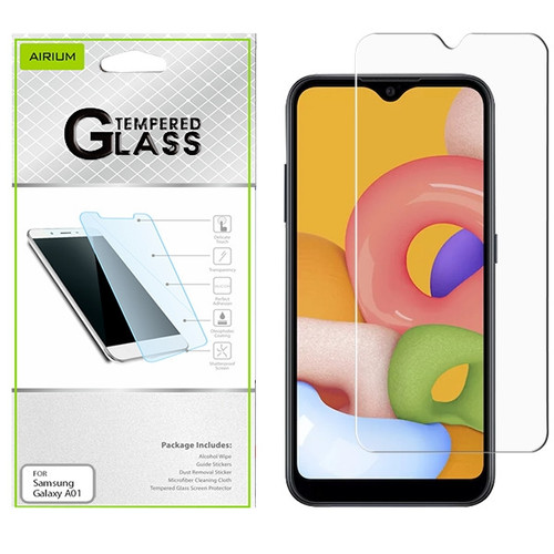 Airium Tempered Glass Screen Protector (2.5D) for Samsung Galaxy A01 - Clear