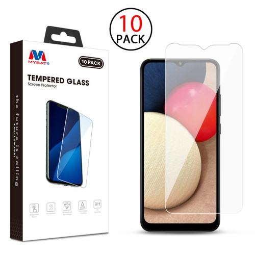 MyBat Tempered Glass Screen Protector (2.5D)(10-pack) for Samsung Galaxy A02s - Clear