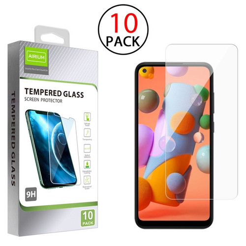 Airium Tempered Glass Screen Protector (2.5D)(10-pack) for Samsung Galaxy A11 - Clear
