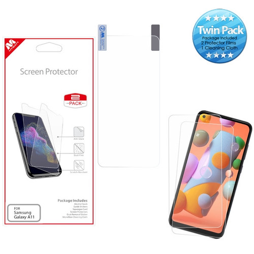 MyBat Screen Protector Twin Pack for Samsung Galaxy A11 - Clear