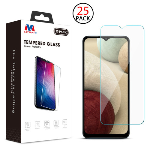 MyBat Tempered Glass Screen Protector (2.5D)(25-pack) for Samsung Galaxy A12 5G - Clear